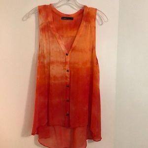 Gypsy 05 Orange Tie-Dye Tank